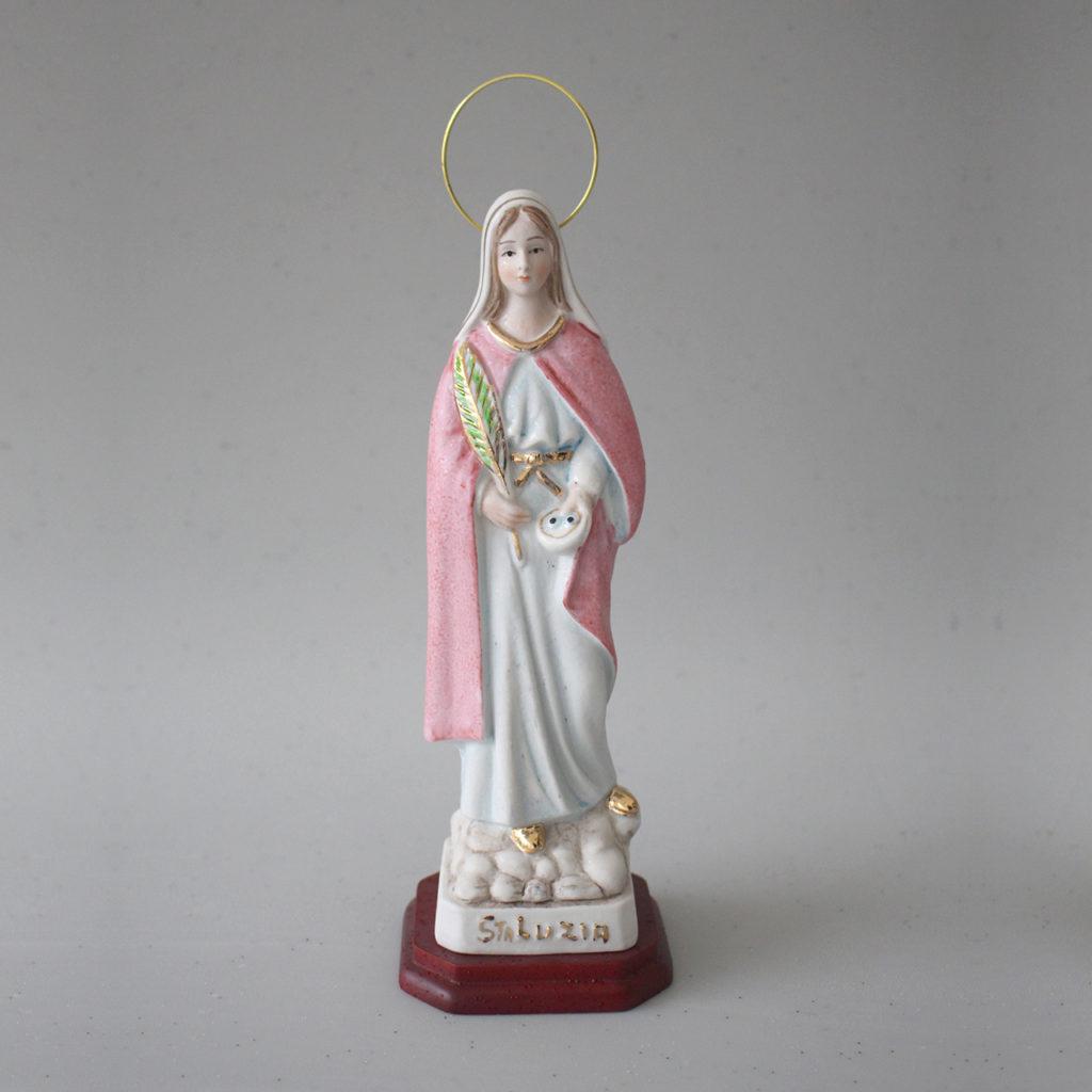 Imagem de Santa Luzia em porcelana com 20,5 cm