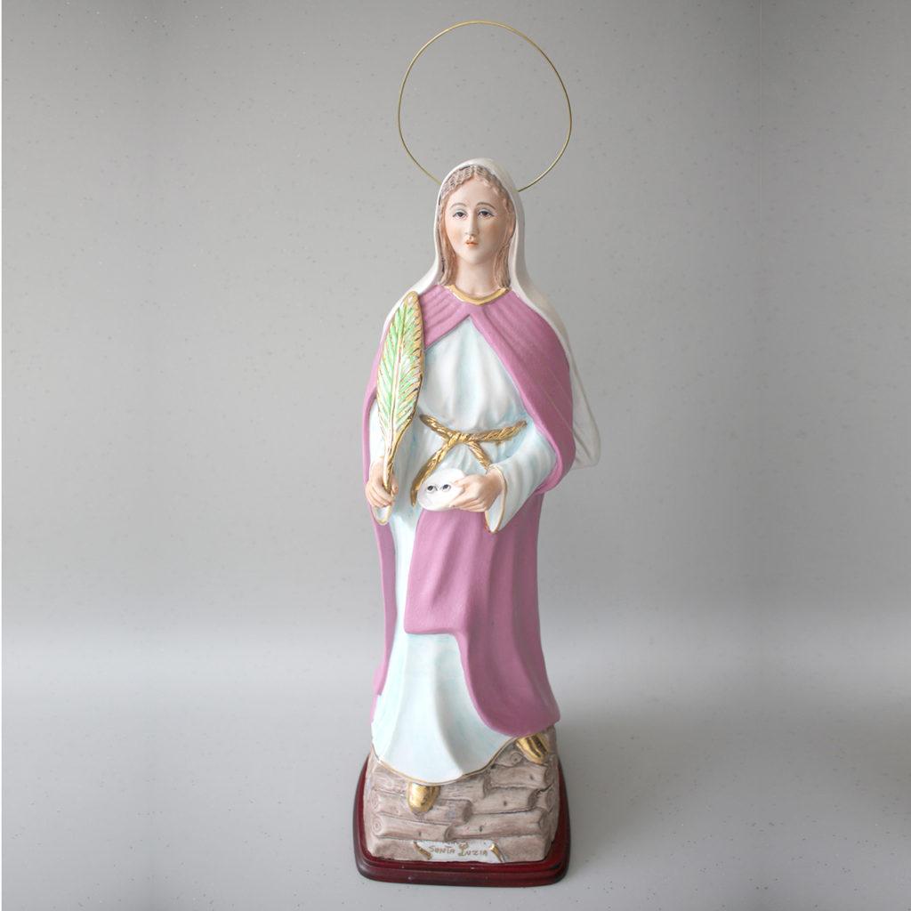 Imagem de Santa Luzia em porcelana com 42 cm