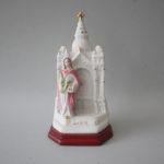 Templo de Santa Luzia em porcelana com 16 cm