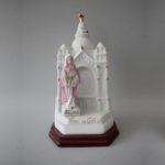 Templo de Santa Luzia em porcelana com 18,5 cm