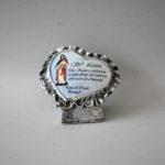 Coração com dedicatória de Santa Luzia