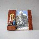 Placa em madeira com dedicatória de Santa Luzia