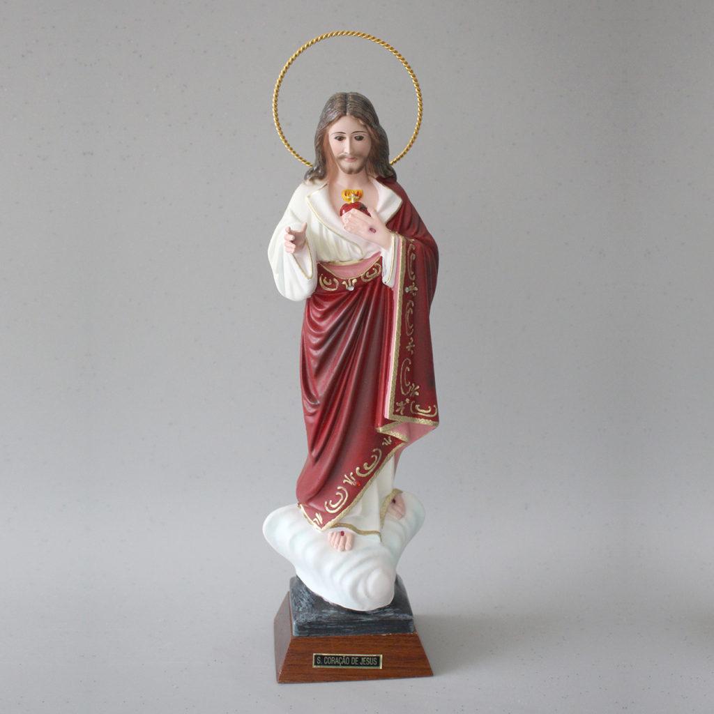 Imagem Sagrado Coração de Jesus em resina 34 cm