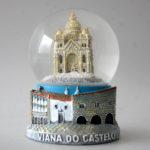 Globo de água com Templo Santa Luzia 9,5 cm