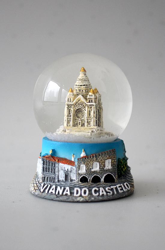 Globo de água com Templo Santa Luzia 6,5 cm