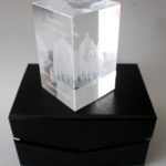 Cristal com Templo Santa Luzia em 3D