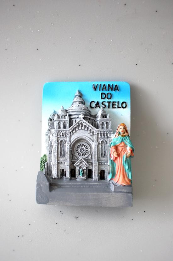 Magnético Templo e imagem de Santa Luzia
